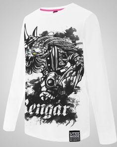 A camiseta de manga longa Pridestalker rengar para homens League of Legends heróis camiseta branca-