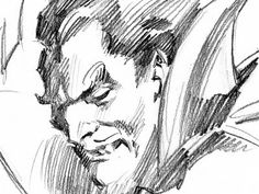 A cool sketch of Dracula (I think?). I like this style of sketching.