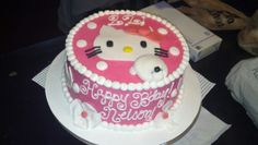 Hello Kitty engagement and bday cake