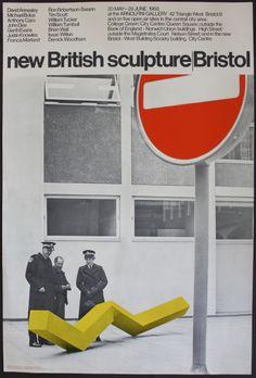 new British sculpture Arnolfini Exhibition Poster