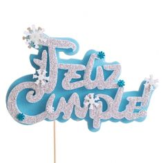 Cake Accessories, Cake Toppings, Frozen, Handicraft, Ideas Para, Birthdays, Happy Birthday, Baby Shower, Lettering