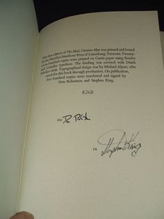 Don Robertson ,Stephen King Signed Limited 1st Edition of The Ideal Genuine Man