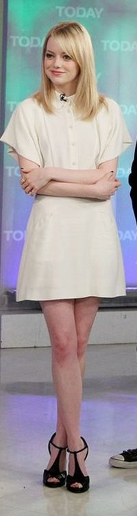 Emma Stone: Dress - Fendi Shoes - Roger Vivier Mini Dress