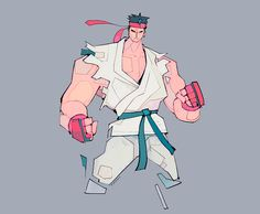 Street Fighter Illustrations by Michael Firman – Inspiration Grid | Design Inspiration