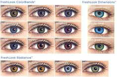EYE COLOR CHART - I'm somewhere between turquoise, green, and grey. What are you? I <3 comments! (and so does @Lily Sharn !!!) haha