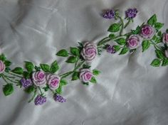 roses & violets embroidery.