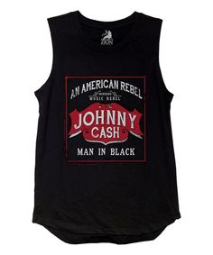 Look what I found on #zulily! Black 'Johnny Cash' Tank - Juniors by Zion Rootswear #zulilyfinds