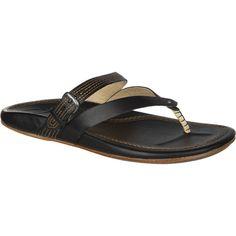 5cf35fbe200cee Sandals and Flip Flops 62107  Olukai Manalua Black Black Comfort Flip Flop  Sandal Women S Sizes 5-11 New!! -  BUY IT NOW ONLY   69.95 on eBay!