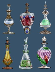 Bottle designs by furesiya.deviantart.com on @DeviantArt