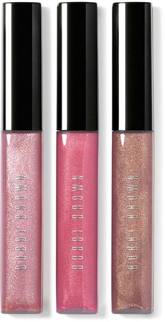 Bobbi Brown Lip Gloss Trio, Holiday Gift Giving Collection - Three lip glosses, one perfect set to get you effortlessly-and glamorously-through the holidays. Bobbi Brown Lip Gloss, Shimmer Lip Gloss, Clear Lip Gloss, Lip Makeup, Beauty Makeup, Beauty Bar, Beauty Shop, Face Blender, Lip Shine