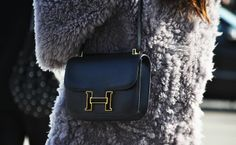 Constance bag in an alluring black. #hermes #streetstyle
