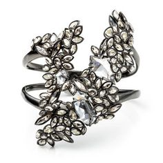 Liquid Crystal Cluster Cuff Bracelet