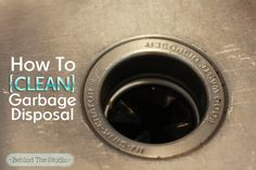 Green Cleaning Method – How to clean the garbage disposal with natural cleaners – Behind The Studio Deep Cleaning Tips, Green Cleaning, House Cleaning Tips, Natural Cleaning Products, Cleaning Solutions, Cleaning Hacks, Cleaning Recipes, Household Products, Diy Products