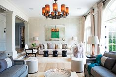 Loyal American clients who'd first worked with Howes in London asked her to design the 18,000-square-foot Greenwich, Connecticut, home they moved into upon their return to the States.