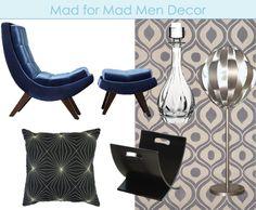 Mad Men inspired decor on Overstock.com