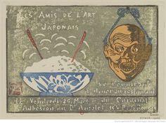 Les Amis de l'Art Japonais se réuniront à dîner au Restaurant du Cardinal le Vendredi 20 Mars : [carton d'invitation, estampe] / GA [George Auriol] [monogr.]