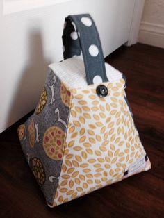 Handmade Door stop Fabric door stop Door prop Fabric cube