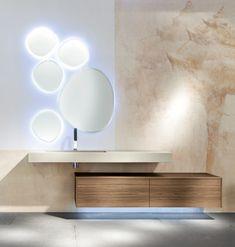 profili netti e superfici pulite per un arredo bagno moderno e dal design metropolitano ante