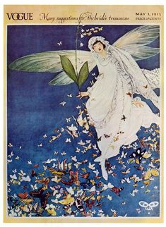 """Vogue, May 1913. Faerie, butterflies. """"Many suggestions for the bride's trousseau."""""""