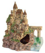 Castle Fortress 2pc Set Aquarium Fish Tank Decoration Ornament AQ839002