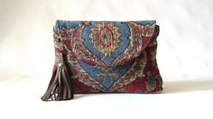 Tapestry bag boho clutch purse medallion clutch by TheSneakPeek