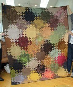 figure out how to make one of these blurry/watercolor quilts because they are rad.