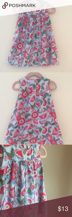 Floral Cotton Baby Dress by Angel Dear Floral Dress by Angel Dear. Buttons at back. Ruffle detailing down front. 100% Cotton. Gently used and in Excellent condition. Angel Dear Dresses
