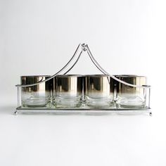 vintage ombre glass barware set