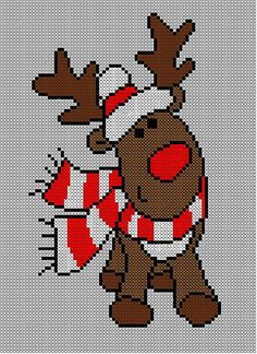 Christmas Rudolph Reindeer Jumper / Sweater Knitting Pattern