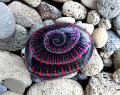 Colorfull Painted Pebble art Dot Mandala Style- Natural Eco Nature Stone Rock  Art Craft Handmade Home, Office & Garden Decor.