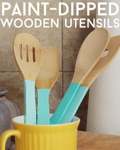 Upgrade Your Wooden Utensils With A Pop Of Paint