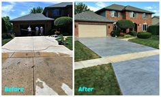 How to install beautiful stamped concrete tiles for the look of stamped concrete for a fraction of the cost! Diy Stamped Concrete, Stain Concrete, Acid Stained Concrete, Concrete Patios, Concrete Tiles, Fun Ideas, Decor Ideas, Covered Patios, Bougainvillea