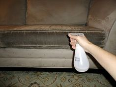 How to Clean Microfiber Furniture - I've pinned this before, but have to again, BECAUSE... I just finished cleaning my microfiber couch, and it looks brand spankin' new. Hooray!