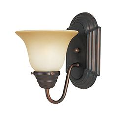Pyramid Creations Essentials 6-in W 1-Light Bronze Arm Hardwired Wall Sconce