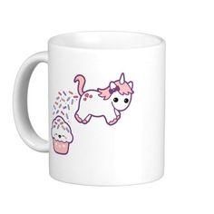 Cute Pooping Unicorn Coffee Mug