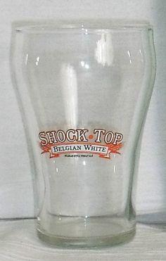"Shock Top Beer Tasting Glass Cup 4"" Belgian White Advertising FREE US Ship #ShockTop"