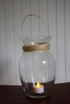 DIY lantern for the center of the tables