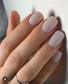 glitter gel nail designs for short nails for spring 2019 110 ~ thereds. Glitter Gel Nails, Shiny Nails, Cute Acrylic Nails, Acrylic Nail Designs, Nail Manicure, Cute Nails, Neutral Gel Nails, Nail Polish, Trendy Nail Art