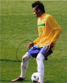Neymar da Silva Santos Júnior Autographed Brazilian National Team Photograph - Sports Memorabilia