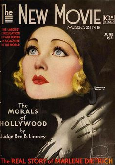Constance Bennett on the cover of The New Movie Magazine, June 1931.