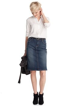 Denimrok in 5-pocket-stijl CASUAL - Esprit Online-Shop