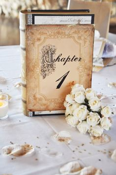 Good idea for table numbers and maybe in the book right tips about marriage!
