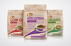 Sunrice's Rice Packaging Design Highlights the Benefits of Healthy Eating #marketing trendhunter.com