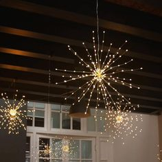This dazzling Fireworks Wire String Light fixture has a total of 150 top-quality LED lights. Every wire branch has 4 to 5 micro LED lights that shine brighter and more brilliant than any traditional string lights. Christmas Trees For Kids, Christmas Lights, Pretty Lights, Beautiful Lights, Hanging Lights, String Lights, Solar Lights, Lighting Solutions, Light Decorations