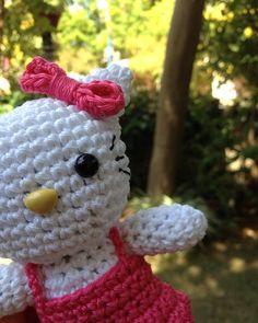 Crocheted Hello Kitty doll