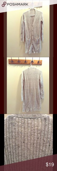 Long Heather Grey Sweater Cardigan Size Medium Long Heather Grey Sweater Cardigan Size Medium. In good used condition. All tags removed. Sweaters Cardigans