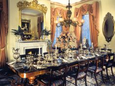 Main public dining room at Monmouth Plantation.