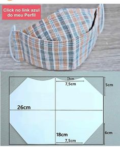 Easy Face Masks, Diy Face Mask, Pattern Cutting, Pattern Making, Masque Anti Pollution, Sewing Hacks, Sewing Projects, Projects To Try, Fashion Face Mask