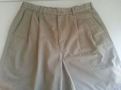 OUTERRIM Men's Shorts Casual 34 Beige Solid Pleated 65% Polyester 35% Cotton EUC #Outerrim #CasualShorts #ebay #Outerrim #CasualShorts