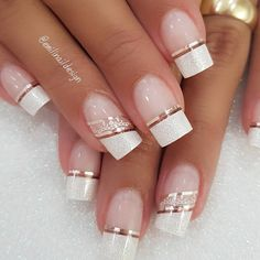 Between the breakthrough nail art and the arrival on the market of ever more innovative nail polishes, it's hard to escape the madness of couture nails. Romantic Nails, Elegant Nails, Classy Nails, Fancy Nails, Stylish Nails, Trendy Nails, Cute Nails, Cute Acrylic Nails, Acrylic Nail Designs